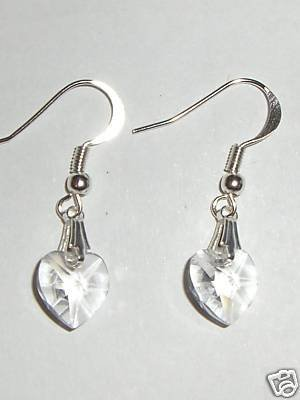 Heart Earings 925 Silver made with SWAROVSKI ELEMENTS