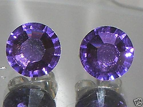 7mm Wedding Bridal Tanzanite Crystal Stud Earrings made with SWAROVSKI ELEMENTS