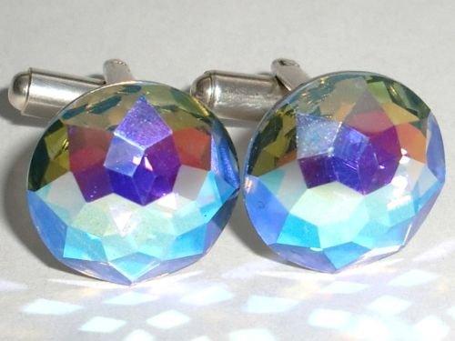 Vintage! Wedding Groom Usher Gift Crystal Cufflinks made with SWAROVSKI ELEMENTS