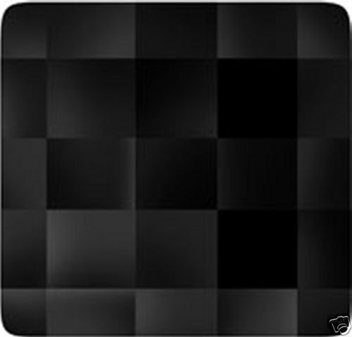 Two Chessboard Jet Crystals 8x8mm SWAROVSKI ELEMENTS