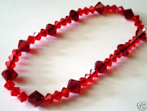 Wedding Valentine Xmas Gift Siam Crystals Bracelet made with SWAROVSKI ELEMENTS