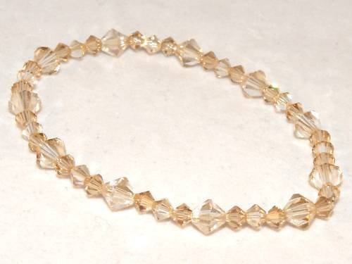 Wedding Valentine Xmas Gift Golden Crystal Bracelet made with SWAROVSKI ELEMENTS