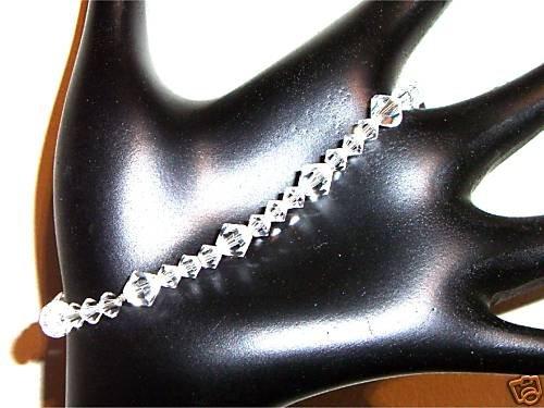 Wedding Valentine Xmas Gift Clear Crystal Bracelet made with SWAROVSKI ELEMENTS