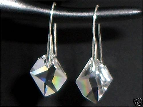 Xmas Wedding Valentine Gift Cosmic Crystal Earings made with SWAROVSKI ELEMENTS