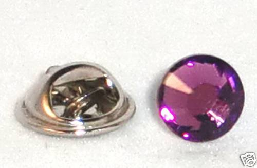 8.5mm Wedding Crystal Lapel Tack Tie Pin Page Boy made with SWAROVSKI ELEMENTS