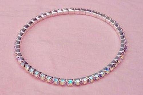 SALE! AB Crystal Rhinestone Stretch Bracelet Bridal