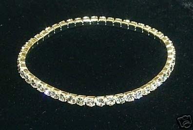 SALE! Clear Crystal Rhinestone Stretch Bracelet Bridal