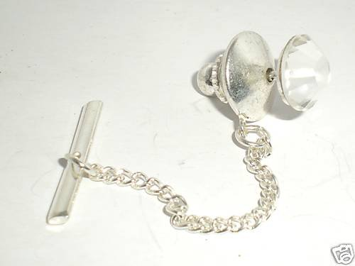 8.5mm Crystal Tack Tie Pin made with SWAROVSKI ELEMENTS