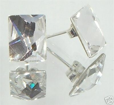 Wedding Clear Crystal Cosmic Studs Earrings made with SWAROVSKI ELEMENTS