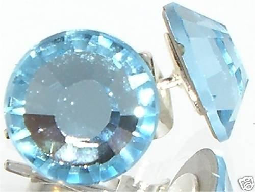 7mm Wedding Bridal Gift Aqua Crystal Stud Earrings made with SWAROVSKI ELEMENTS