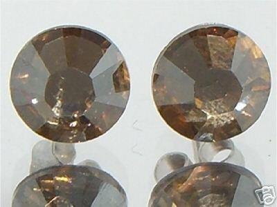 7mm Wedding Bridal Golden Crystal Stud Earrings made with SWAROVSKI ELEMENTS