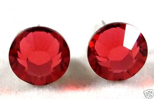 7mm Wedding Gift Indian Pink Crystal Stud Earrings made with SWAROVSKI ELEMENTS