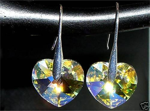 Crystal Hearts  Earrings made with SWAROVSKI ELEMENTS
