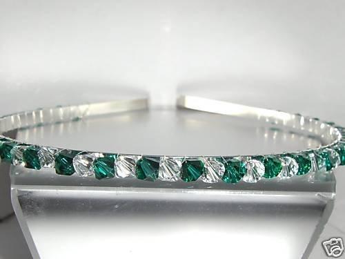 Wedding Bridal Headband Emerald Crystal Tiara Prom made with SWAROVSKI ELEMENTS