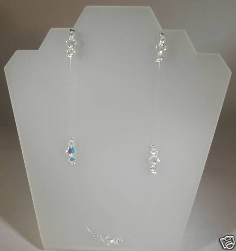 Wedding Bridal Favour Crystal  Illusion Necklace made with SWAROVSKI ELEMENTS