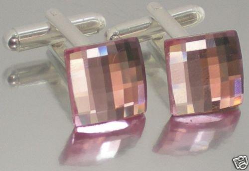 Wedding Chess Rose Crystal Groom Usher Cufflinks made with SWAROVSKI ELEMENTS