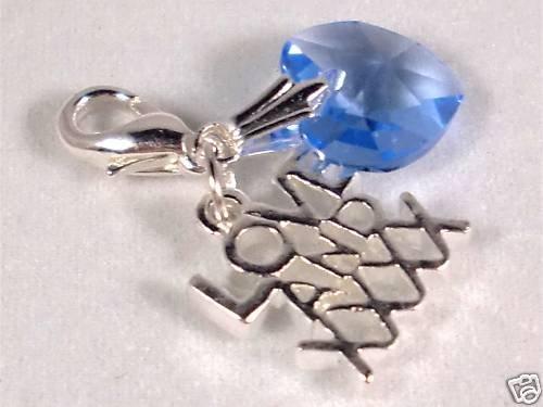 Something Blue Wedding Crystal Heart Bridal Charm made with SWAROVSKI ELEMENTS