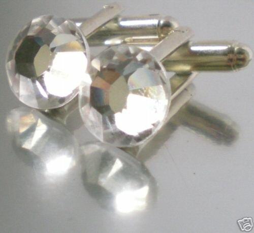 Wedding Groom Usher Best Man Crystal Cufflinks made with SWAROVSKI ELEMENTS