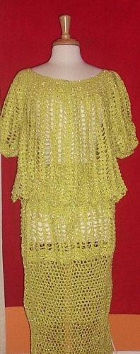 Hand Crocheted Original Design Skirt Set