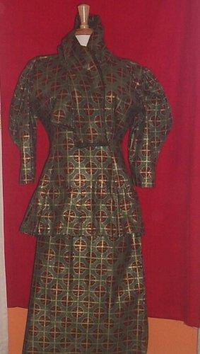 Olive Green Skirt Set
