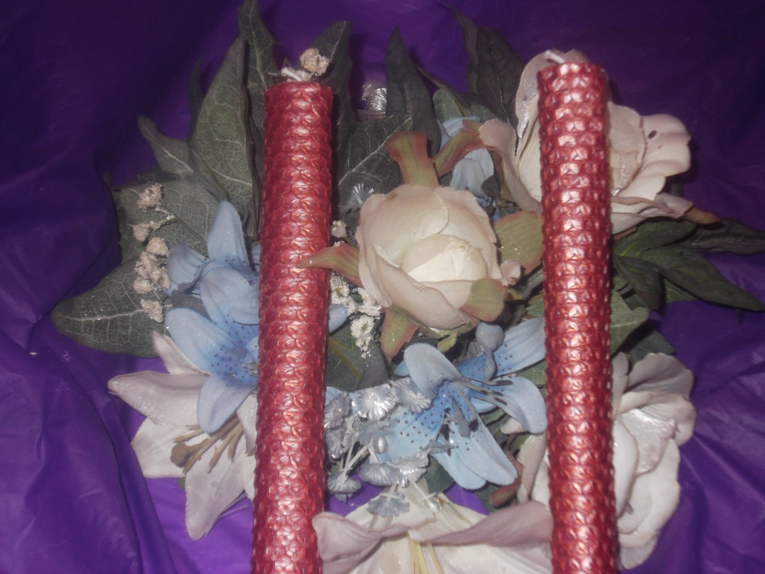 Layered Beeswax Taper Candle 6 Pack