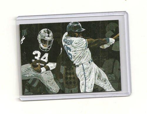 Bo Jackson Hand Bonded Card Raiders Royals Baseball football Plain Back 1/1