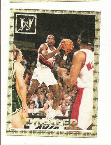 Clyde Drexler Error Variation Card IJ #3 1994 Foil