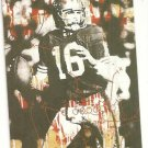 Joe Montana Artwork Football card hand bonded from magazine Oddball Unique