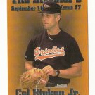 Cal Ripken JR Silver  Parallel 1/250 rare Headline Pick #1 1995