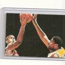 Magic Johnson Michael Jordan hand bonded card plain linen finish Unique 1/1