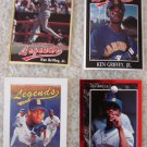 KEN GRIFFEY JR 4 CARD LOT ALL LEGENDS RED SILVER FOIL  compare and $ave