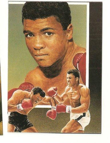 Muhammad Ali  Hand Bonded Boxing Card Plain Back Oddball Unique 3 Scene 1991
