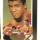 Muhammad Ali  Hand Bonded Boxing Card Plain Back Oddball Unique 3 Scene 1991