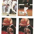Michael Jordan All 4 Spotlight Cards Rare White LOT