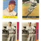 Stan The Man Musial 4 Card LOT Ballstreet gold Platinum Sport Mag Reprint #36