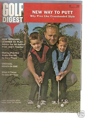 Stevie jr JACK NICKLAUS Golf Digest 1966 1/1 AUTOS (3)
