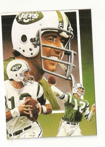 Joe Nameth Hand Bonded Card Unique Oddball Football NY Jets 3 Scenes Artwork '91
