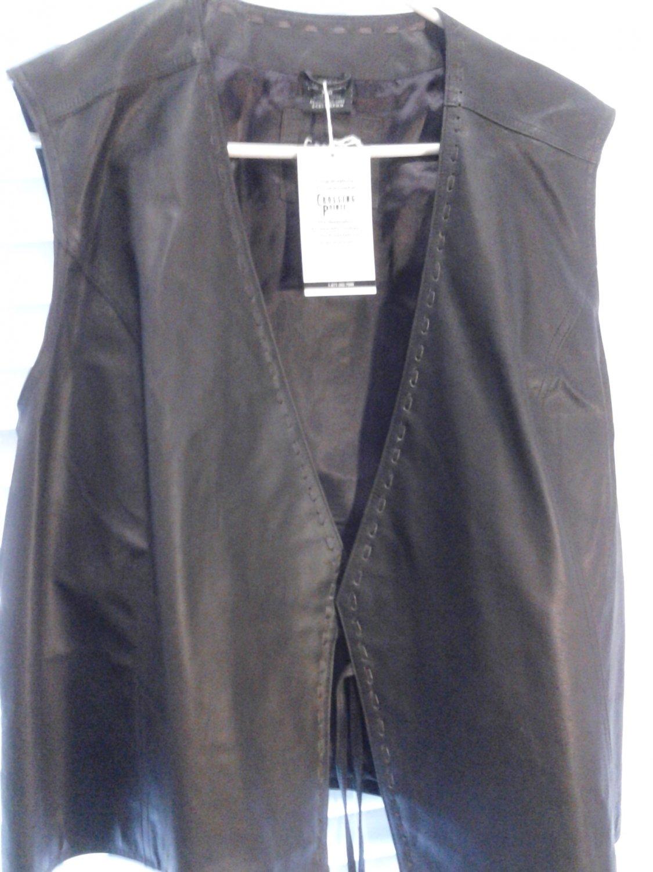 Brand New  Beautiful Brown Women's Genuine Leather Vest