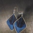 Large Brand New Blue Dangled Thread Earrings