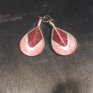 Small Brand New Pink And Burgundy Dangled Thread Earrings