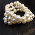 New Large Ivory Faux  Pearl Bracelet