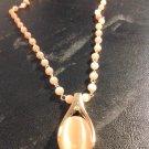 Brand New Beautiful Bold Peach Beaded Necklace