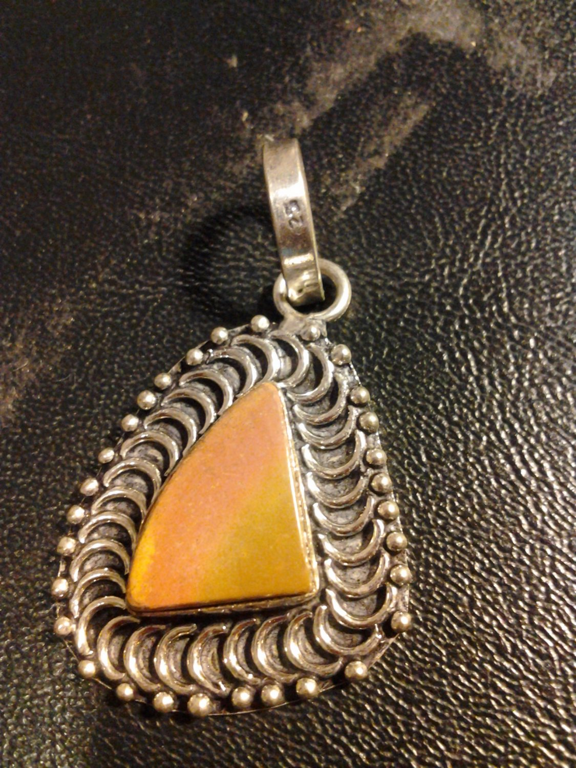 Brand New Beautiful Vintage Style Earth Tone Orange Piece Pendant