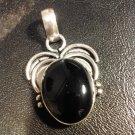 Brand New Beautiful Silver Onxy Pendant