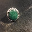 Brand New Beautiful Green Silver Ring Sz 8