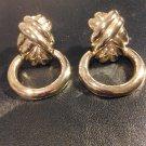 Beautiful  Bold BIg Gold DoorKnockers Clip On Earrings