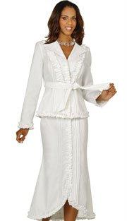 Brand New Beautiful White Denim Women's 2- Peice Suit