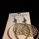 Brand New Beautiful Silver Dangled Hoop Earrings