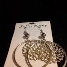 Brand New Beautiful Silver Dangled Hoop Earrings