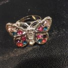 Brand New Beautiful Multi Color Butterfly Adjustable Rings